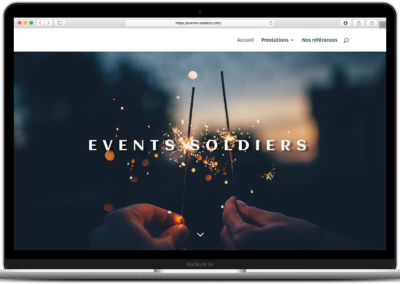 Conception web – Events Soldiers